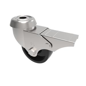 Polypropylene Bolt Hole Swivel Brake 50mm 40kg Load