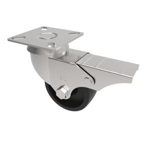 Polypropylene Plate Swivel Brake 50mm 40kg Load