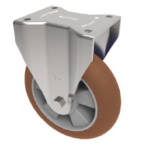 Ergonomic Polyurethane Plate Fixed 100mm 350kg Load