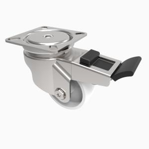 Nylon Plate Swivel Brake 50mm 50kg Load