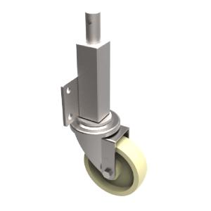 Nylon Plate Swivel Braked Locking Castor 125mm 250kg Load.