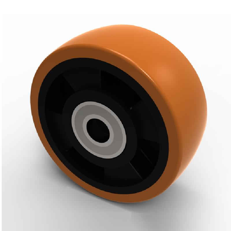 15 mm Bore 100 mm Diameter 40 mm Tread BIL BZXH100WPNBJM15 Series WXPN Wheel Polyurethane On Nylon 40 mm Hub Brown 300 kg Load