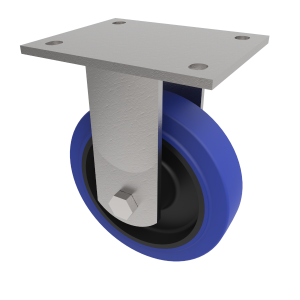 Blue Elastic Rubber Plate Fixed 100mm 275kg Load
