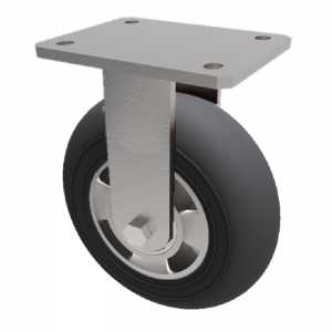 Black Soft Elastic Rubber Plate Fixed 150mm 270kg Load