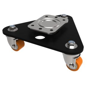 Skate Polyurethane Cast Iron Plate Swivel 35mm 225kg Load