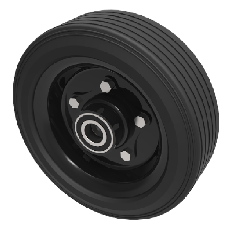 Black Rubber Wheels