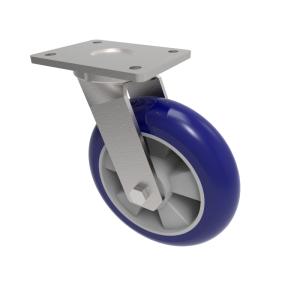 Softer Ergonomic Polyurethane Plate Swivel 100mm 300kg Load