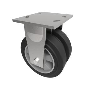 Elastic Rubber on Aluminium Plate Fixed 200mm 1000kg Load