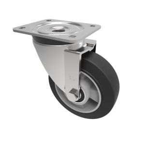 Elastic Speed Rubber on Aluminium Plate Swivel 150mm 350kg Load