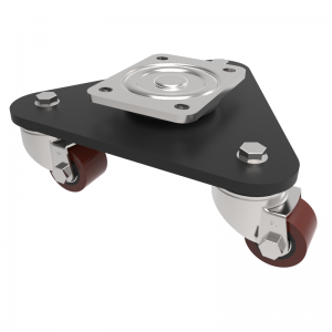 Skate Polyurethane Cast Iron Plate Swivel 50mm 270kg Load