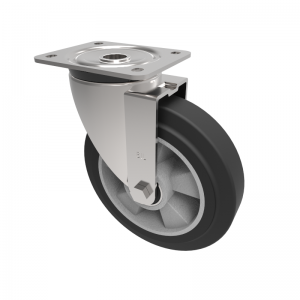 Elastic Speed Rubber on Aluminium Plate Swivel 200mm 500kg Load