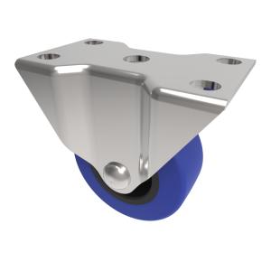 Blue Elastic Rubber 75ShoreA Plate Fixed 50mm 50kg Load