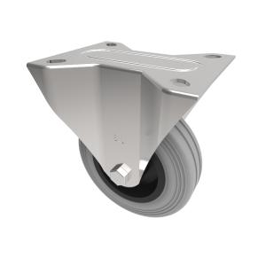 Grey Rubber Polypropylene Plate Fixed 100mm 70kg Load