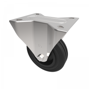 Black Rubber Plate Fixed 100mm 70kg Load