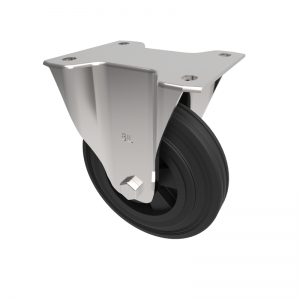 Black Rubber Plate Fixed 160mm 140kg Load