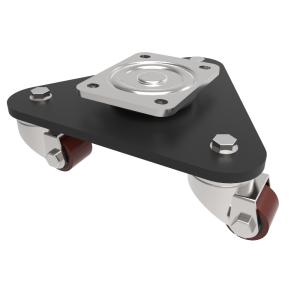 Skate Polyurethane Cast Iron Plate Swivel 40mm 225kg Load