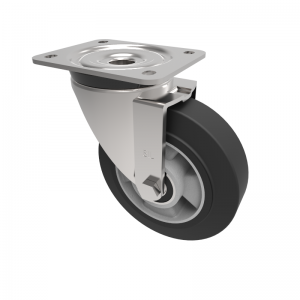 Elastic Speed Rubber on Aluminium Plate Swivel 160mm 400kg Load