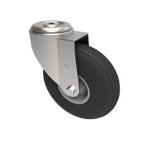 Puncture Proof Polyurethane Bolt Hole Swivel 200mm 75kg Load