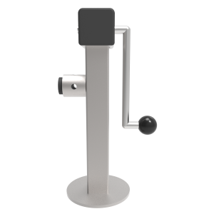 Zinc Plated Side Winding Parking/Lifting Jack with Round Fixing Tube. 1000kg Load