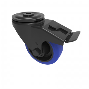 Blue Elastic Rubber 65ShoreA Bolthole Brake 80mm 150kg Load
