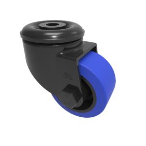 Blue Elastic Rubber Bolt Hole Swivel 65mm 100kg Load