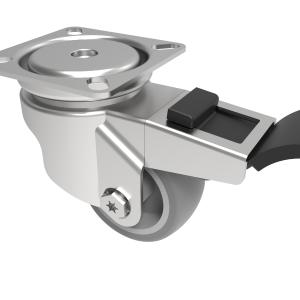Rubber Swivel Plate Brake 50mm 50kg