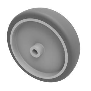 Grey Rubber 100mm Plain Bearing 70kg Load