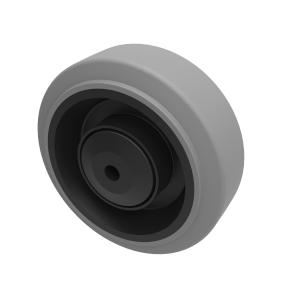 Grey Elastic Rubber 65shore A 80mm Ball Bearing 150kg Load