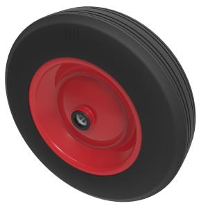 Black Rubber Pressed Steel 400mm Roller Bearing 400kg Load