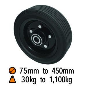 Black Rubber Wheels