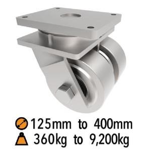 Twin Wheel Fabricated Heavy to Extra Heavy Duty Castors