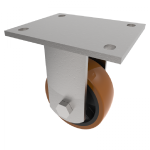 Polyurethane Nylon Plate Fixed 100mm 300kg Load