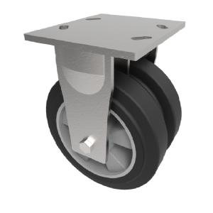 Elastic Rubber on Aluminium Plate Fixed 125mm 540kg Load