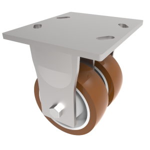 Polyurethane Nylon Plate Fixed 125mm 1000kg Load