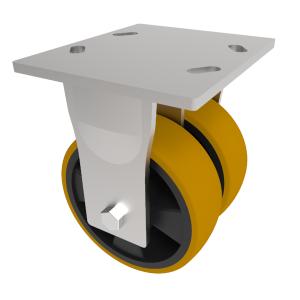 Polyurethane Nylon Plate Fixed150mm 1200kg Load