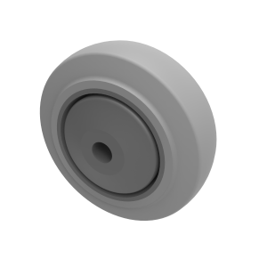 Soft Grey Rubber 80mm Ball Bearing 90kg Load