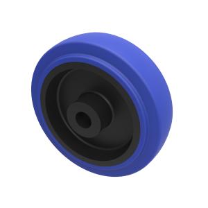Blue Elastic Rubber 75ShoreA 100mm Plain Bearing 160kg Load
