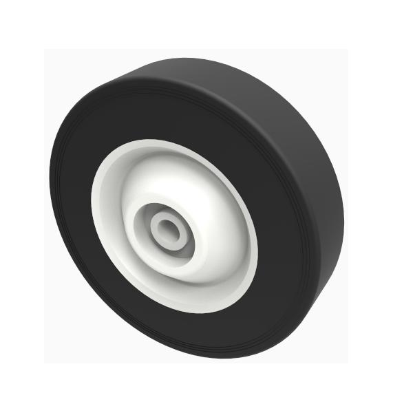 Black Rubber 180mm Plain Bearing 50kg Load
