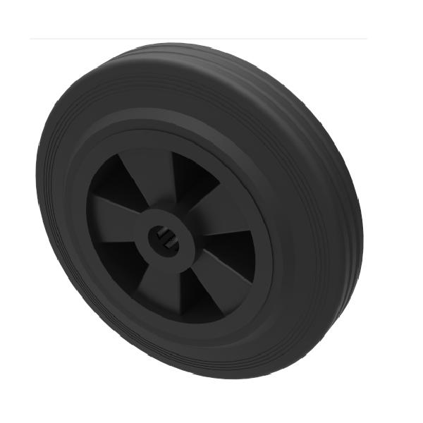 Black Rubber 80mm Roller Bearing 50kg Load
