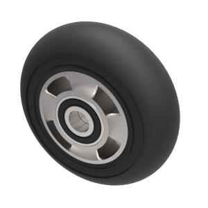 Black Soft Elastic Rubber 160mm Ball Bearing 300kg Load