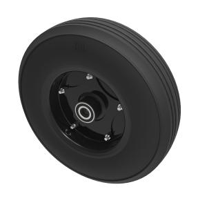 Black Rubber Pressed Steel 250mm Ball Bearing 350kg Load