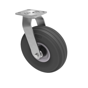 Puncture Proof Polyurethane Plate Swivel 260mm 150kg Load