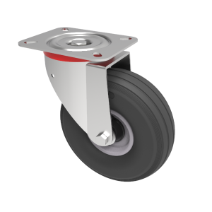 Puncture Proof Polyurethane Plate Swivel 200mm 75kg Load