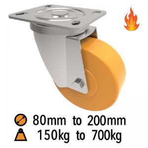 Pressed Steel High Temperature Castors
